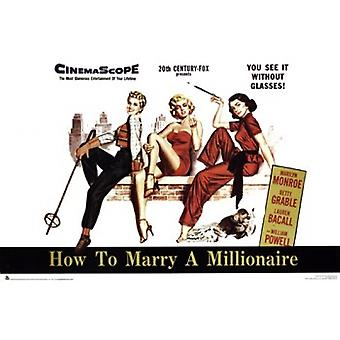 How to Marry a Millionaire Poster Poster Print