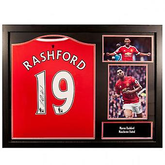 Manchester United Rashford Signed Shirt (Framed)
