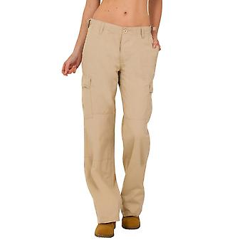 Wide Leg Cotton Cargo Pants