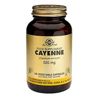 Solgar, Cayenne 520mg Vegetable Capsules, 100