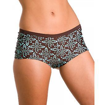 Camille Womens Damen braun afrikanischen Print Bikini Shorts