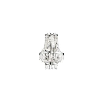Ideal Lux - Augustus Chrome And Crystal Wall Light Idl112817
