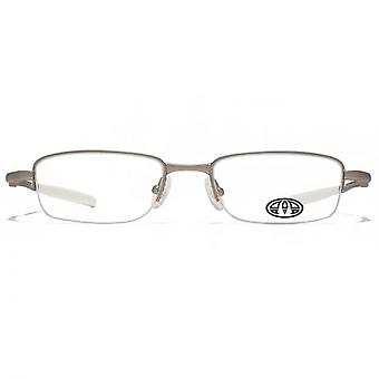 Animal Harington Oval Half Rim Glasses In Silver
