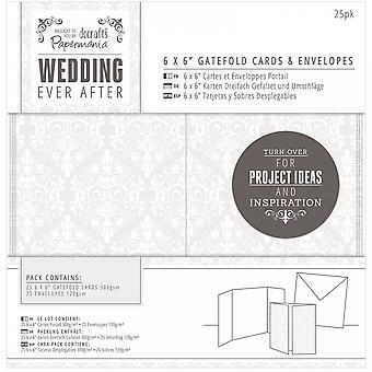 DoCrafts Hochzeit je nach ausfaltbare Karten & Umschläge Hochzeit Damast 25pk