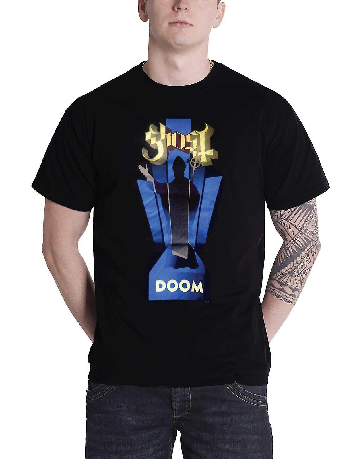 Ghost T Shirt Doom Opus eponymous band logo mens black Official