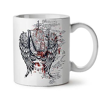 Wings Urban Cool Fashion NEW White Tea Coffee Ceramic Mug 11 oz | Wellcoda