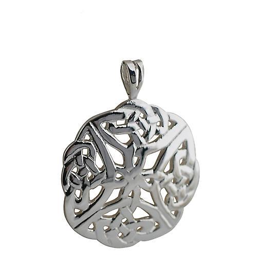 Silver Pendant 27mm round Celtic knot design Pendant