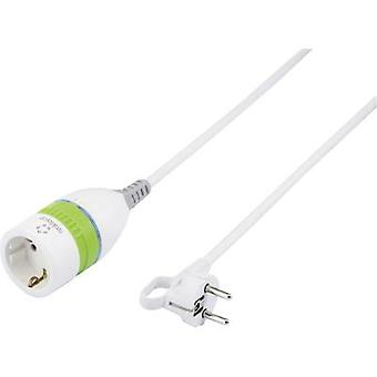 Renkforce 1362918 Current Cable extension White, Green 5 m incl. interpolator
