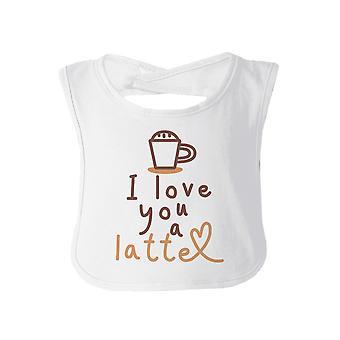 Liebe ein Latte Baby Burp Bib Geschenk weiß