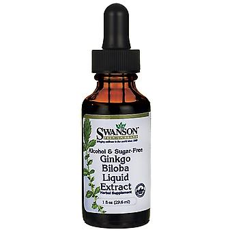 Swanson Ginkgo Biloba Liquid Extract Alcohol & Sugar Free 29 ml