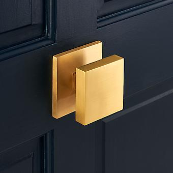 Luxury Solid Brass Gold Square Centre Door Knob