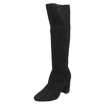Ladies Anne Michelle Pull On Knee High Boots F50680