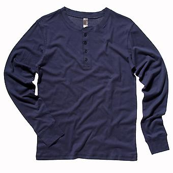 Bella Canvas Mens Jersey Long Sleeve Henley
