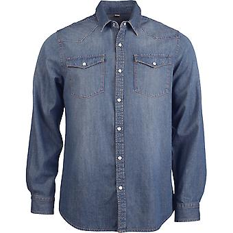 Kariban Mens Long Sleeve Denim Shirt