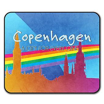 Прайд гей Копенгаген скольжения мыши коврик коврик 24 см х 20 см   Wellcoda