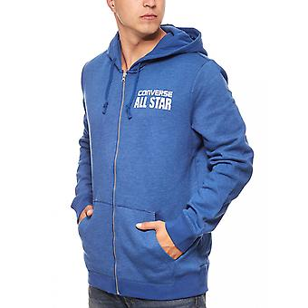 Converse heritage full Zip Hoodie men's sweatshirt jacket blue