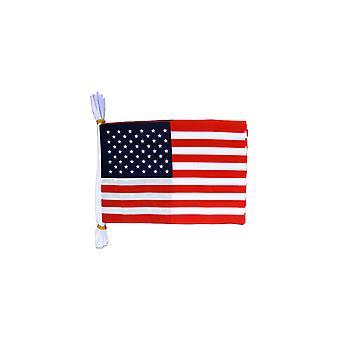 USA vlag Bunting rechthoekige vlaggen