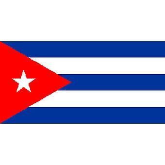 Cuban Flag 5ft x 3ft With Eyelets For Hanging