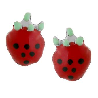 Orphelia Silver 925 Kids Earring Red Strawberry  ZO-7149