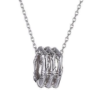 ESPRIT women's chain necklace silver cubic zirconia bamboo ESNL91518A42