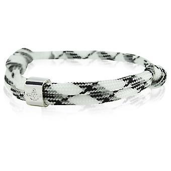 Skipper bracelet surfer band node maritimes bracelet white/grey/black 6486
