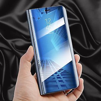 Для Samsung Галактика J7 J730F 2017 четкое представление зеркало зеркало смарт крышку синий чехол сумка мешок случае новых случае звонок функции