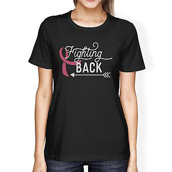 Fighting Back Arrow Cancer T-Shirts For Women Breast Cancer Support