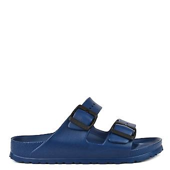 Birkenstock Arizona Navy Rubber Two Strap Sandal