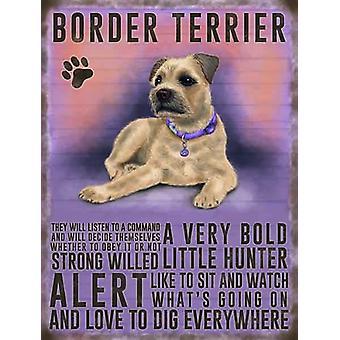 Border Terrier Køleskabsmagnet