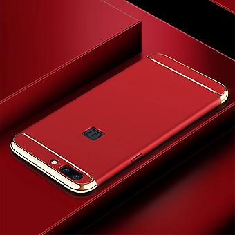 Cell phone cover case for OnePlus 5 bumper 3 in 1 cover chrome case Bowl Red