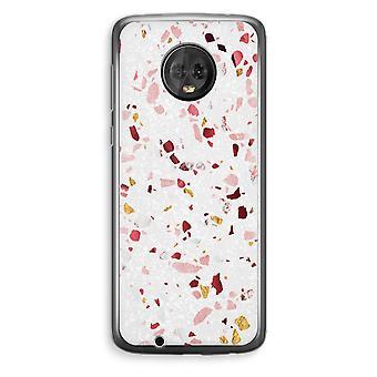 Motorola Moto G6 Plus Transparent Case (Soft) - Terrazzo N°9
