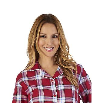 Slenderella NS2215 Frauen des Interlock Schlaf-Shirt Nighty Nachthemd kariert