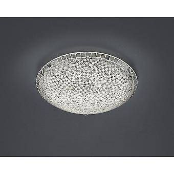 Trio Beleuchtung Mosaique Modern Silber Crackle Glas Deckenleuchte