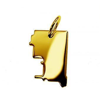 Anhänger Landkarte Kettenanhänger in gold gelb-gold in der Form von CALGARY