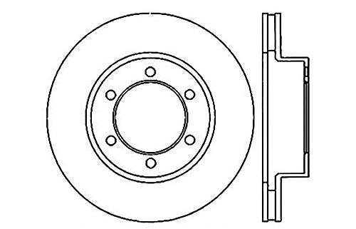 StopTech 128.44118R Sport Cross Drilled Brake rougeor (Front Right), 1 Pack