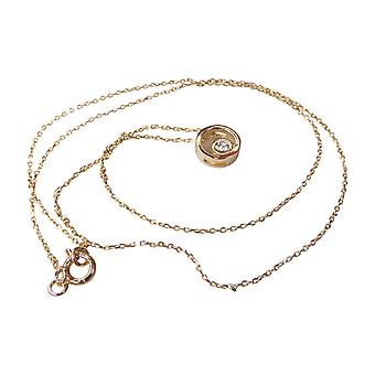 14 k Yellow gold necklace with pendant circle