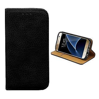 Colorfone Samsung Galaxy S6 cartera bolsa (negro)