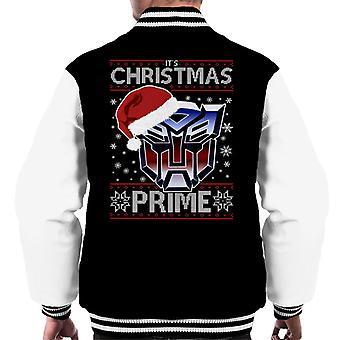 An Autobot Merry Christmas Transformers Men's Varsity Jacket