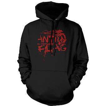 Womens Hoodie - Anti - Flag - US - Punk Rock Band - Anarchy