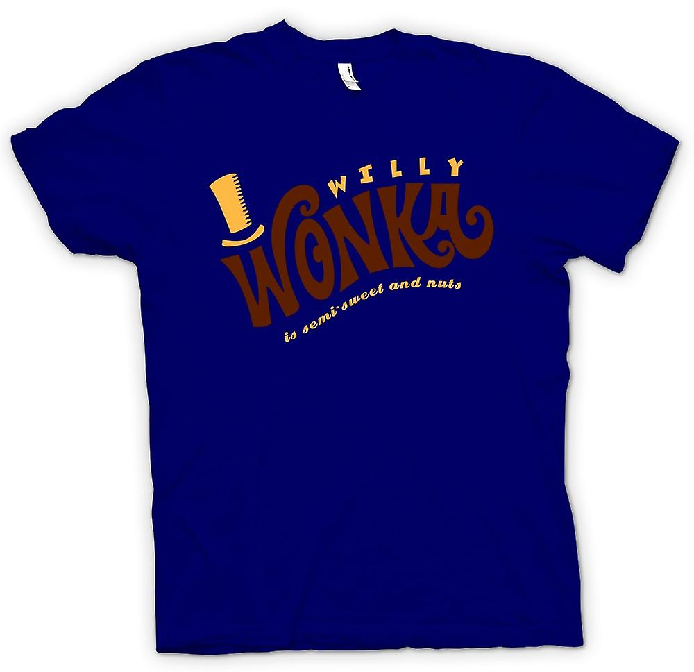 Mens T-shirt - Willy Wonka And Chocolate Factory - BW
