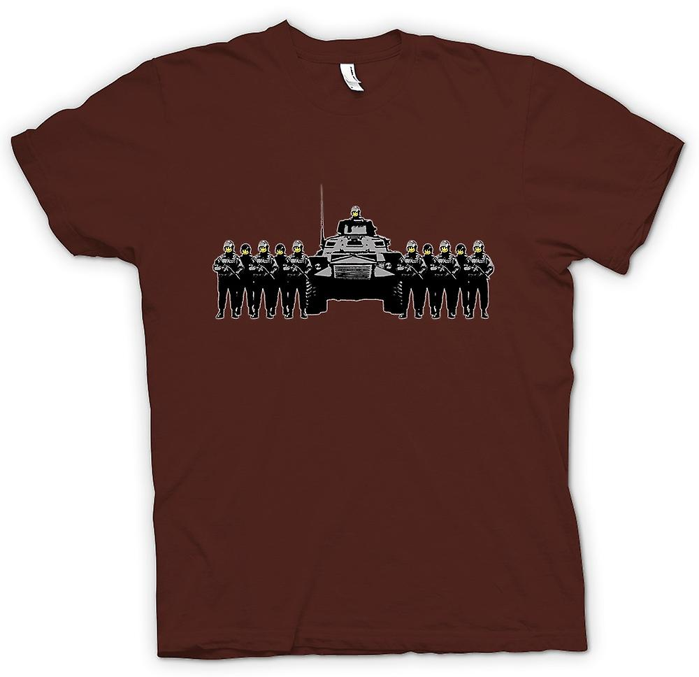 Mens T-shirt - Banksy Graffiti - Polizei Staat