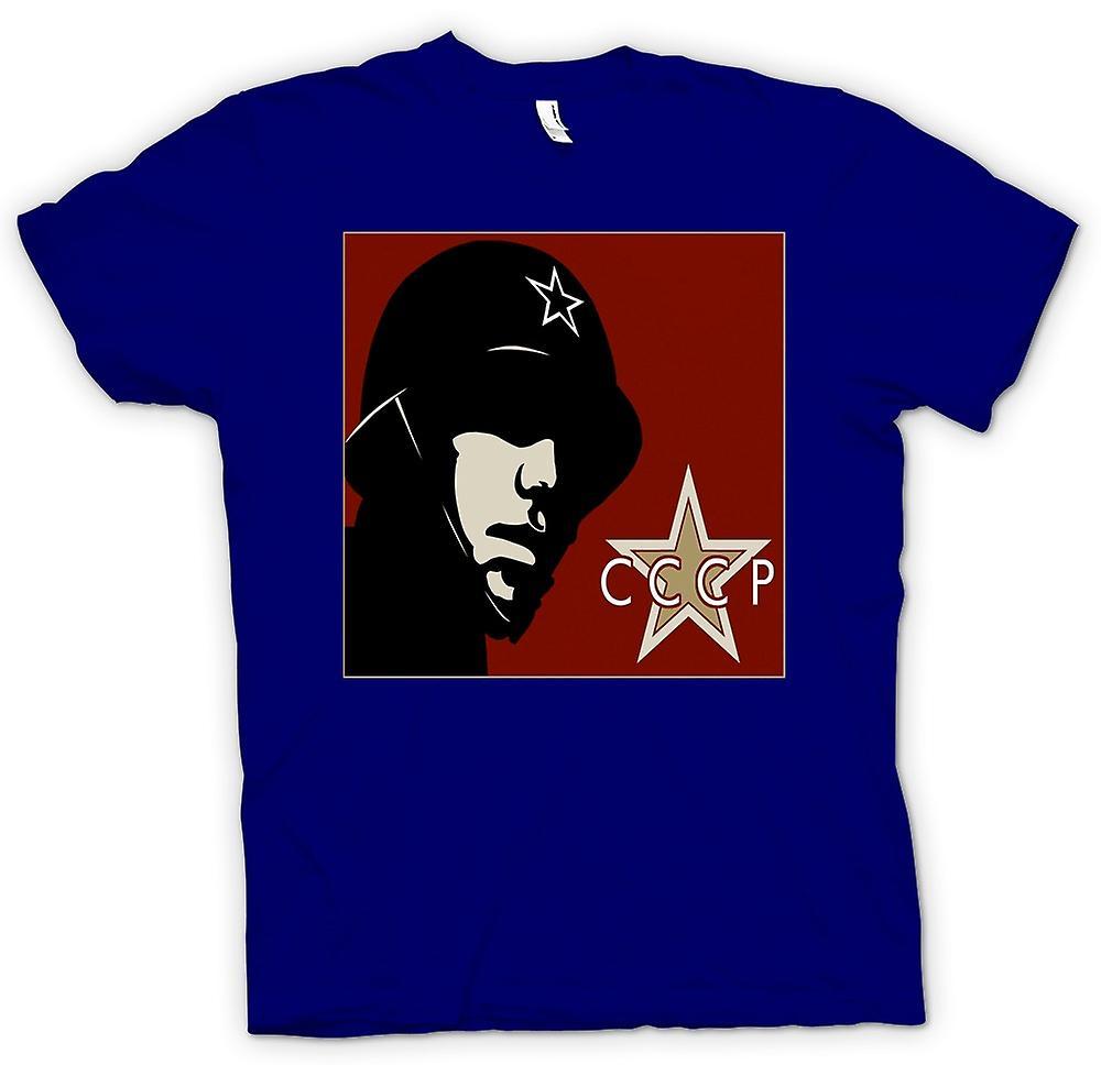 Mens T-shirt - CCCP Russian - Propaganda Poster
