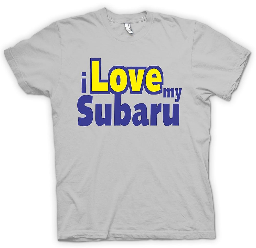 Mens T-shirt - I Love My Subaru - Car Enthusiast