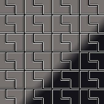 Metal mosaic Titanium ALLOY Kink-Ti-SM