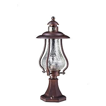 Maytoni Lighting La Rambla Outdoor Post Top Coach Lantern, Brown