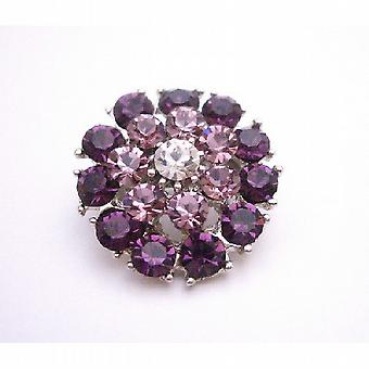Exclusive Beautiful Amethyst Lite Amethyst Crystal Brooch Prom Jewelry