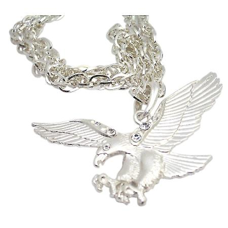 Eagle Pendant Necklace HipHop Bling Bling Eagle Pendant Cubic Zircon