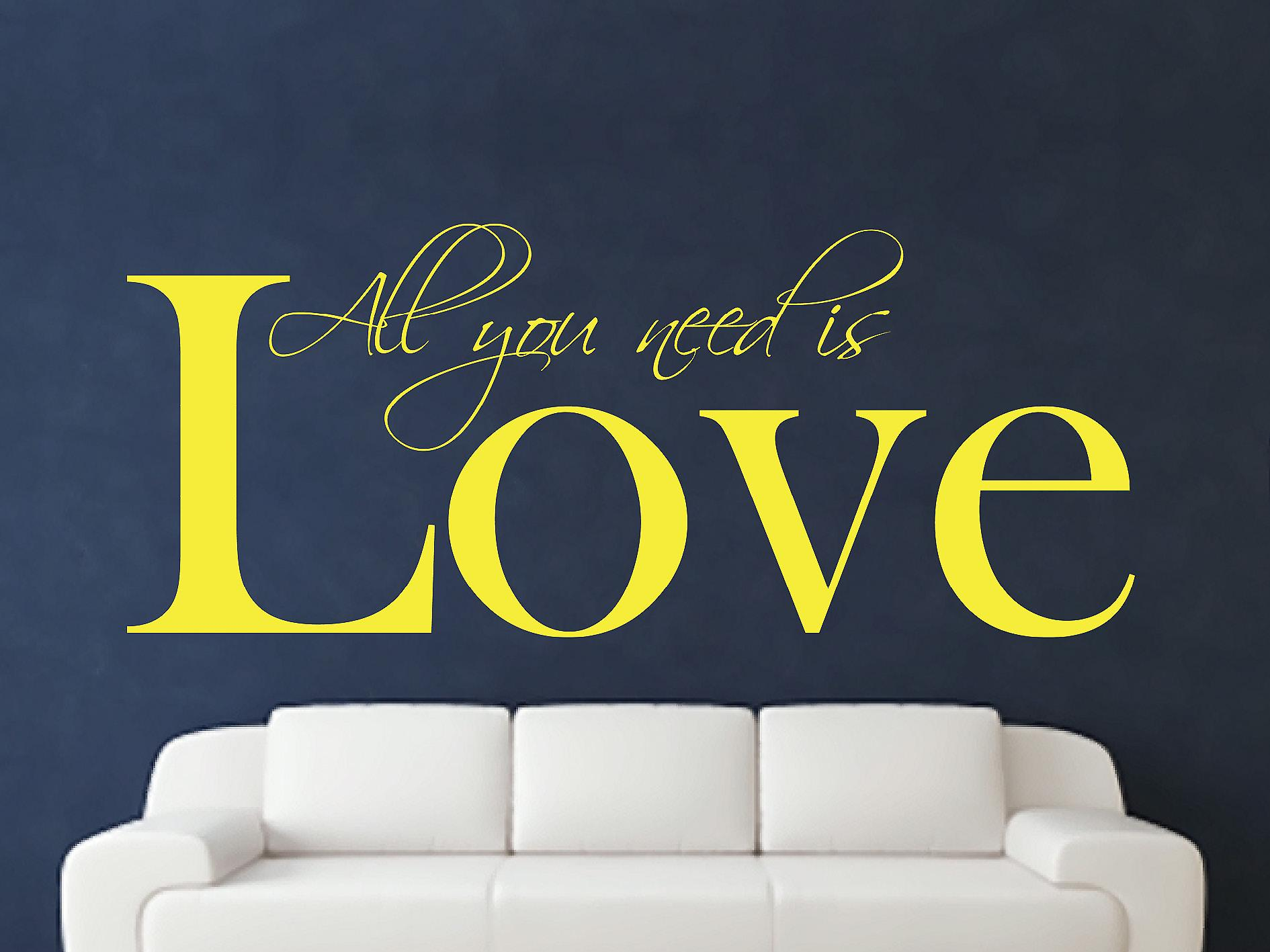 All You Need Wall Art Sticker - Sulphur
