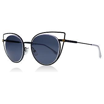 Fendi FF0176/S TLP Blue 0176/S Round Sunglasses Lens Category 3 Size 53mm