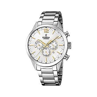 Montre Festina chronographe quartz homme avec bande en acier inoxydable F20343-1